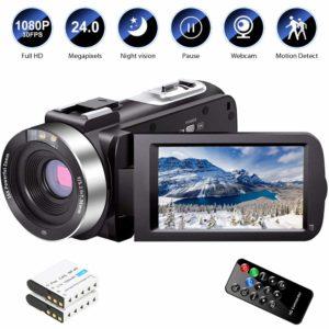 Video Camera Camcorder Full HD 1080P 30FPS 24.0